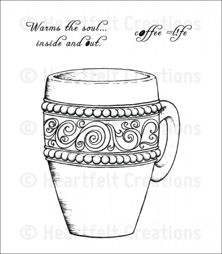 Heartfelt Creations – HCPC3708 Coffee Mug Cling..