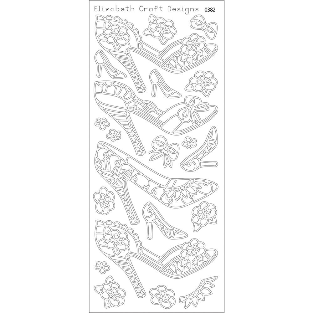 Elizabeth Crafts Sticker 0382 High Heels – Black.. 1 only