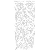 Elizabeth Crafts Sticker 0491 Tulips (silver)