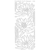 Elizabeth Crafts Sticker 2528 Waterlilies (black)