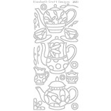 Elizabeth Crafts Sticker 2531 Coffee and Tea (black).. 2 only