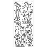 Elizabeth Crafts Sticker 2534 Flowers in Frames – Silver