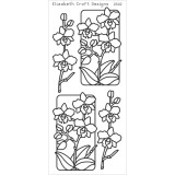 Elizabeth Crafts Sticker 2542 Flowers in Frames (gold)- sold out