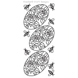 Elizabeth Crafts Sticker 2559 Roses in Ovals (gold)
