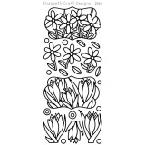 Elizabeth Crafts Sticker 2568 Flower Labels 1 (black)