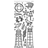 Elizabeth Crafts Sticker 2574 Lighthouses (black)