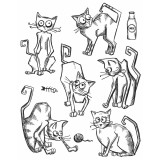 Stampers Anonymous / Tim Holtz – CMS251 Crazy Cats.. – out of stock