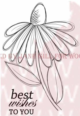 Woodware Stamps – JGS446 Whimsical Flower..