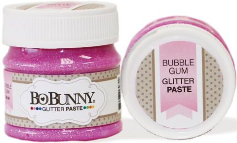 Bo Bunny Glitter Paste – Bubble Gum