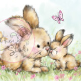Wild Rose Studio – CL451 Spring Bunnies