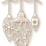 Wild Rose Studio Die – SD034 Hanging Baubles