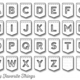 My Favorite Things – MFT932 Dienamics Stitched Banner Alphabet