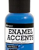 Enamel Accents – Blue Ribbon