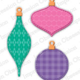 Impression Obsession die – 487-K Patchwork Ornaments
