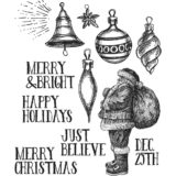 Tim Holtz / Stampers Anonymous – CMS283 Festive Sketch