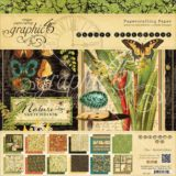 Graphic 45 G4501484 Nature Sketchbook 24page 8×8″ Double-sided Paper Pad