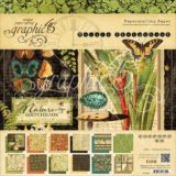 Graphic 45 G4501485 Nature Sketchbook 24page 12×12″ Double-sided Paper Pad