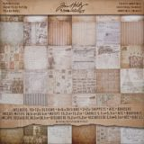 Tim Holtz Idea-ology TH93052 French Industrial Double-sided Paper Pad 12×12″ 36/pkg