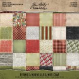 Tim Holtz Idea-ology TH93325 Tidings Double-sided Paper Pad 8×8″ 24/pkg- sold out