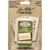 Tim Holtz Idea-ology TH93346 Holidays Red and Green Double-sided Flashcards 72/pkg