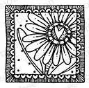 Impression Obsession – CL9461 Square Daisy Heart – (cling)