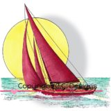 DoveArt Studio – JD1058 Sailboat..- sold out
