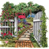 DoveArt Studio – JD1064 Cottage Garden.. – out of stock