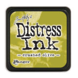 Distressed Mini Ink Pad – Crushed Olive