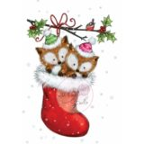 Wild Rose Studio – Foxes in Stocking