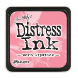 Distressed Mini Ink Pad – Worn Lipstick