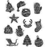 Tim Holtz / Stampers Anonymous CMS316 Mini Carved Christmas..