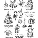 Tim Holtz / Stampers Anonymous CMS318 Tattered Christmas..