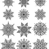 Tim Holtz / Stampers Anonymous CMS320 Mini Snowflakes..