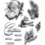 Tim Holtz / Stampers Anonymous CMS322 Christmas Classics..