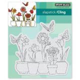 Penny Black 40-518 Potted Flowers