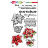 Stampendous CLD11 Wrapped Poinsettia (stamp and die set) – sold out