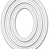 My Favorite Things – Single Stitch Line Oval Frame die set..