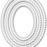 My Favorite Things – Stitched Oval Scalloped Edge Frame die set.. sold out