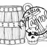 Magnolia Rubber Stamp – Barrell, Skull and Anchor