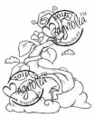 Magnolia Rubber Stamp – Bean Stalk