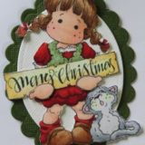Magnolia Rubber Stamp – Christmas Tilda with Cat