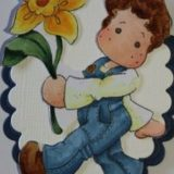 Magnolia Rubber Stamp – Edwin with Daffodil – out of stock