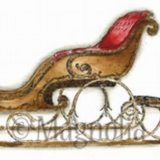 Magnolia Rubber Stamp – Jingle Bell Sleigh