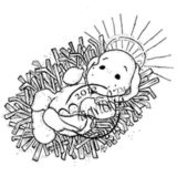 Magnolia Rubber Stamps – Little Holy Baby