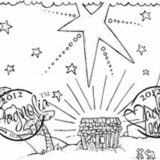 Magnolia Rubber Stamp – Nativity Background