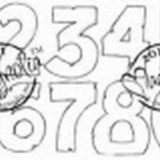 Magnolia Rubber Stamp – Numbers
