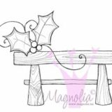 Magnolia Rubber Stamp – Santa Bench