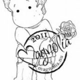 Magnolia Rubber Stamp – Shy Rose Edwin