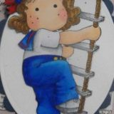 Magnolia Rubber Stamp – Tilda on Rope Ladder
