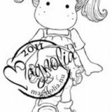 Magnolia Rubber Stamp – Tilda Playing Hopscotch